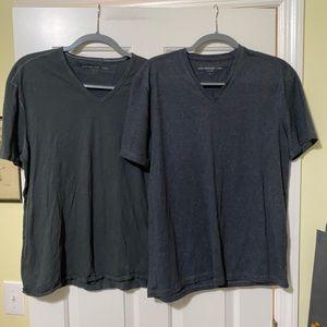 John Varvatos bundle of 2 designer v shirts L